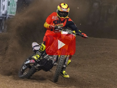 Video: Watch Thomas Ramette lift his third consecutive Arenacross title