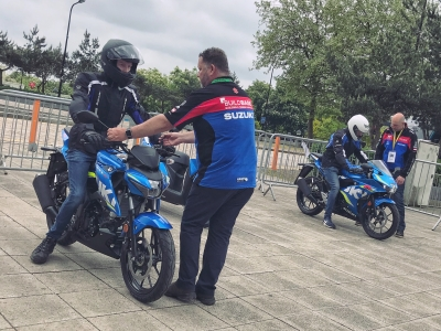 Suzuki pop-up shop a success as new riders get a taste for two-wheels