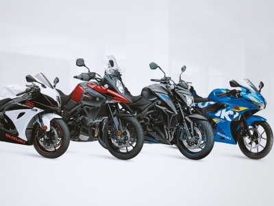 Suzuki showcases striking new 2019 colours at Motorcycle Live