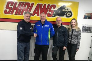 Roy Shirlaw, Pete Swift (Suzuki GB), John Gibb, Dawn Shirlaw