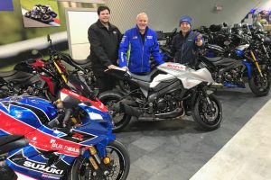 Roy Shirlaw, Pete Swift (Suzuki GB), John Gibb