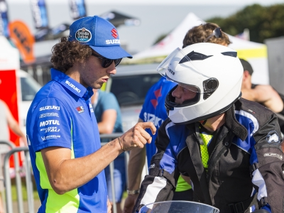 MotoGP race-winner Alex Rins heads star-studded lineup of instructors at Silverstone for Suzuki taster zone
