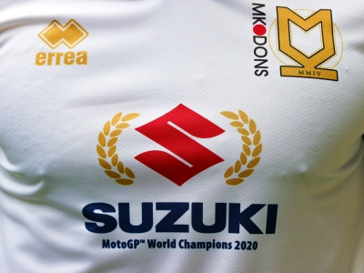 Suzuki MotoGP titles celebrated by Football League club MK Dons