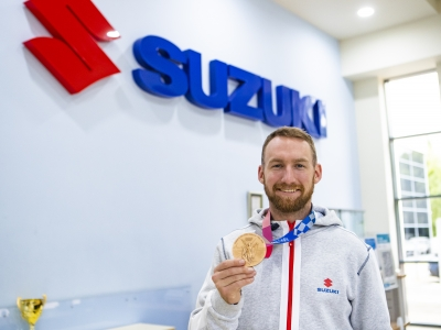 Olympic medalist Declan Brooks visits Suzuki GB